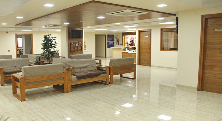 waiting-lounge at Dr. Nagori's Institute